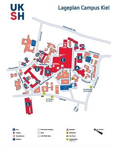 Lageplan UKSH Campus Kiel