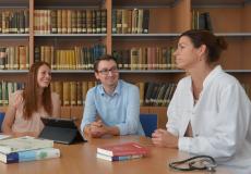 Treffen einer Mentoring-Gruppe
